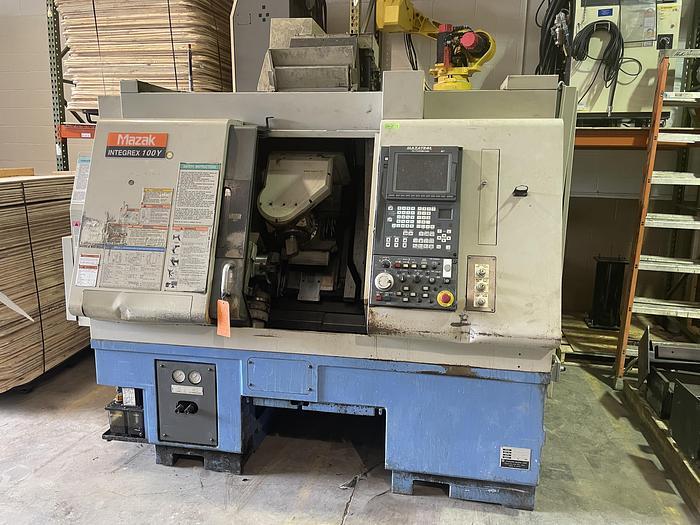 Used MAZAK INTEGREX 100Y CNC TURNING CENTER W/MAZATROL 640MT PC-FUSION CONTROL