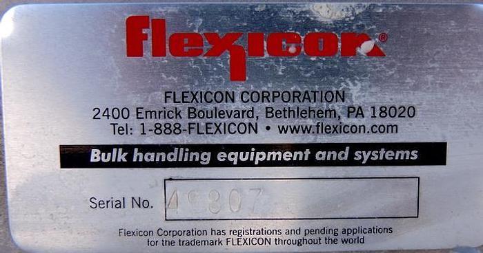"USED SCREW CONVEYOR, 4"" DIAMETER X 156"" LONG, STAINLESS STEEL, ''FLEXICON''"