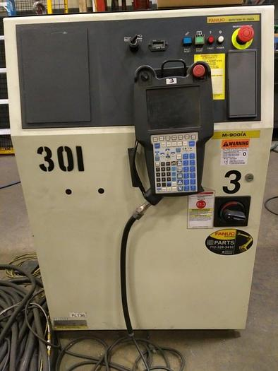 FANUC M900iA/600 6 AXIS CNC ROBOT WITH R30iA & 15' 7TH AXIS TRACK