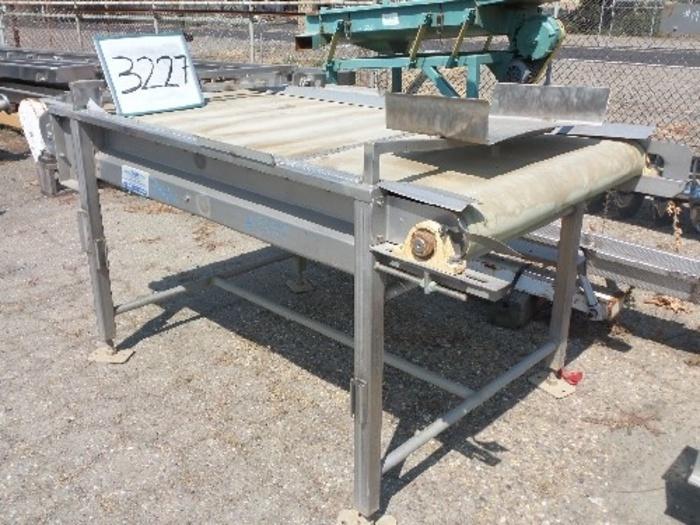 SWM (Stainless Works Mfg.) 3' Wide x 6' Long sorting conveyor #3227