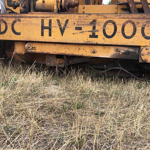 HB19356 Drain-hole Drill, mounted on Case 1150C Dozer Jensen JDC HV100  on Case 1150C track drill