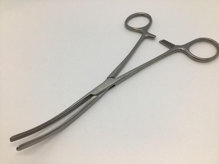 Used Clamp Atraumatic Vascular Pean Jaw Curved 178mm