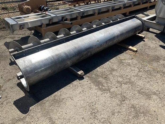 Used Stainless Steel Auger Screw Trough