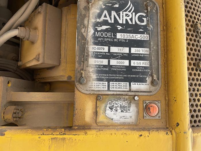 Used 2010 Canrig 1035AC-500