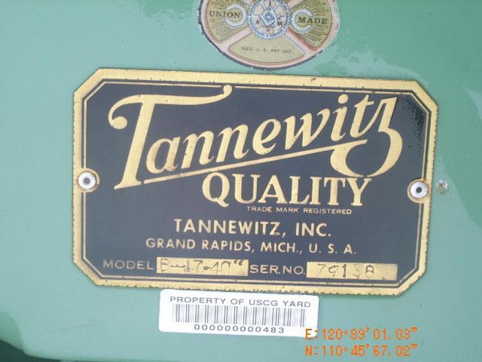 "Used 40"" Tannewitz Model B-17 Tilting Head Vertical Band Saw; S/N 79138"