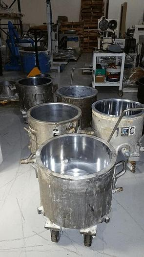 Used 10 GALLON ROSS MIX CANS – STAINLESS STEEL – JACKETED (4) AVAILABLE #8534