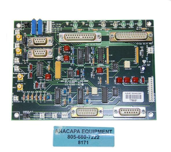 Used August Technology Corp P/N 701858 REV.D NSX 95 I/O Board (8171)W