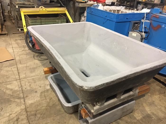 Six (6) Refurbished Dross Drain Pan / Sow Mold Sets: MC-434