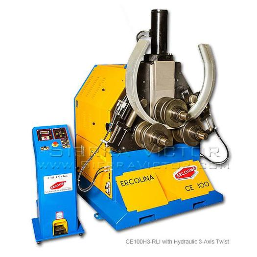 ERCOLINA Hydraulic Angle Roll-Section Bender with Hydraulic 3-Axis Twist Correction for Angle Iron CE100H3-RLI