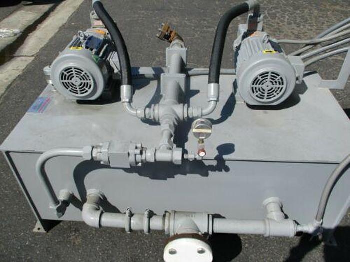 DUAL (2) HYDRAULIC PUMPING UNIT 38 GPM HIGH PRESSURE 3 H.P. MODEL 35V-38-A
