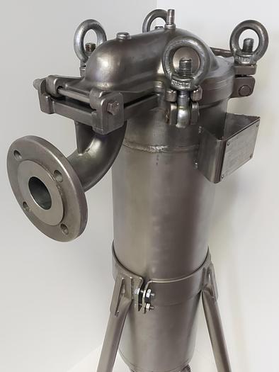 Gebraucht Edelstahl Beutelfilter, Gr. 2, TBF-112-S-10, 10bar, Löffler gebraucht - überholt