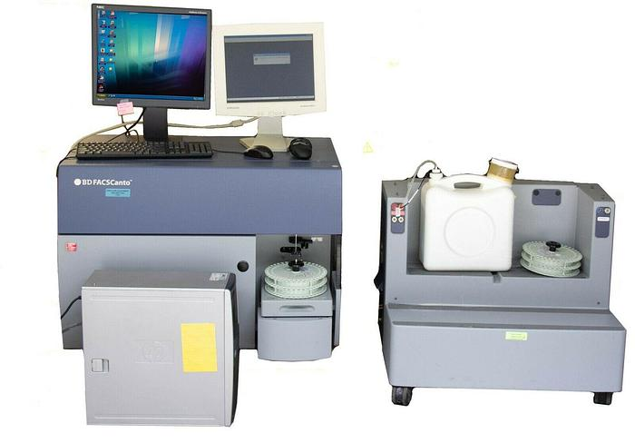 Used BD FACSCanto Flow Cytometer & Fluidics Station Cart, Computer & Software (7252 R