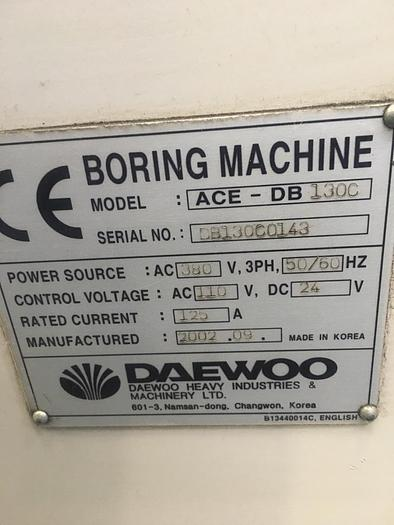 09/2002 Daewoo ACE DB-130C