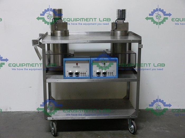 Used Lot of 2 Rosemount Temperature Calibration Bath on Cart 910A2 & Controller 913AH