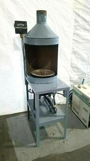 Used Hones 160 Lb. Metal Melting Furnace with Hood & Temp Controller Lead Zinc Pewter