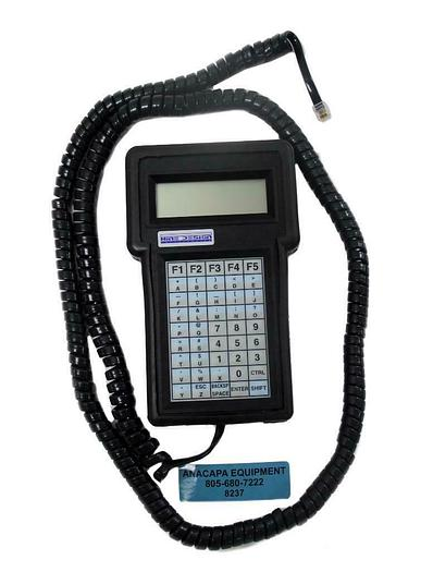 Used Asyst Hine Design 8045R2-1 Robot Teach Pendant Hand Held Controller & Cord (8237