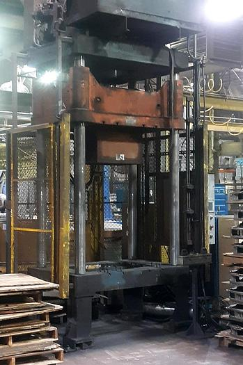 Used GRIFFIN 80 TON VERTICAL TRIM PRESS & SHUTTLE