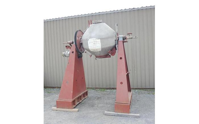 USED DOUBLE CONE BLENDER/DRYER, 20 CU. FT., 304 STAINLESS STEEL