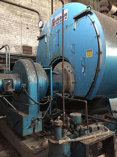 Used 1998 Superior Boiler 600 HP Oil 150 PSI Steam Boiler / Firetube Boiler  6-5-3000