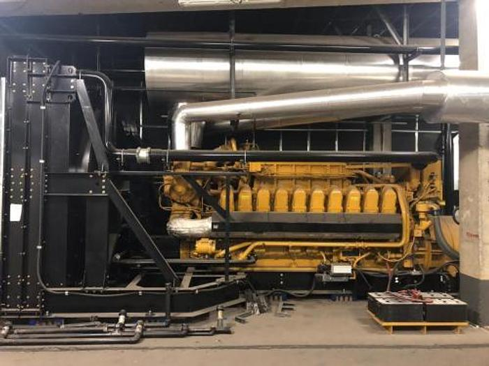 2 MW 2013 Used Caterpillar G3520C Natural Gas Generator