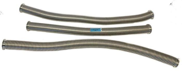 """Used KF50 Corrugated Flex Hose Bellows SS, Length 48"""",41"""",41"""" Lot of 3 (8606)"""