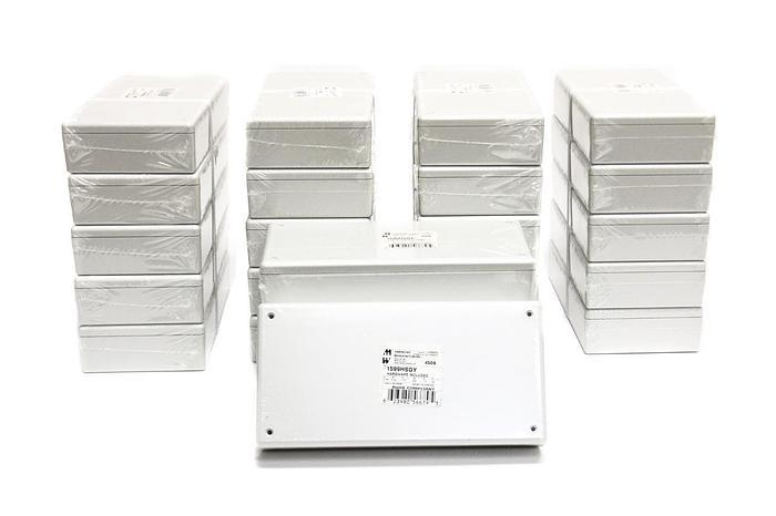 Used Hammond Manufacturing 1599HSGY Grey Plastic Box Lot of 24 (2824)