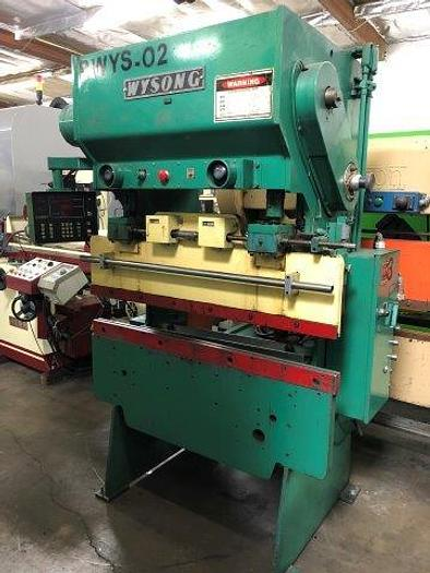 "Used 20 Ton, WYSONG H-2052, 52"" BED, 38"" BTWN HOUSING, CNC BACKGAUGE [5000]"