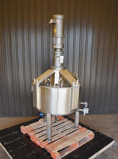 Used USED 80 GALLON 304 STAINLESS STEEL MIXING TANK