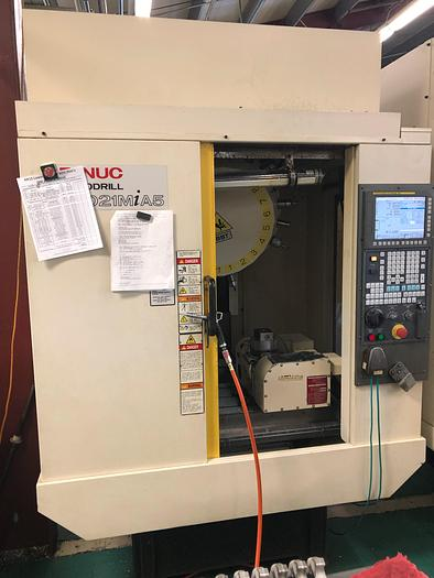 Used 2013 Fanuc  Robodrill D21MiA5 with 4th & 5th Axis