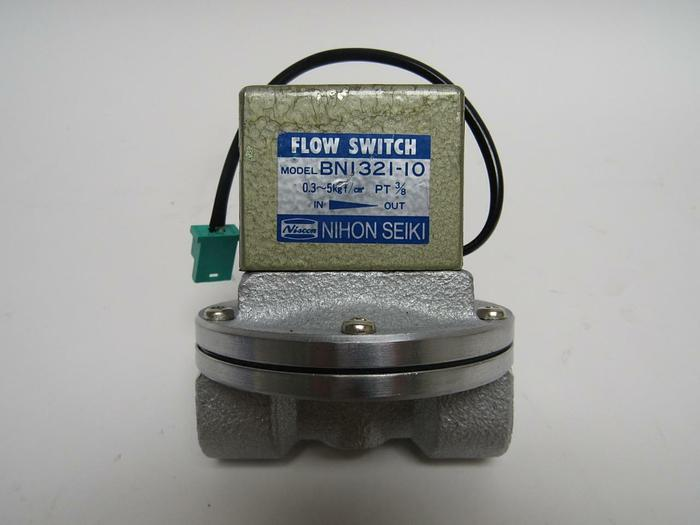 "Used Nihon Seiki Flow Switch BN1321-10 0.03 - 0.05 MPa Female 3/8"" Ports (3946)"