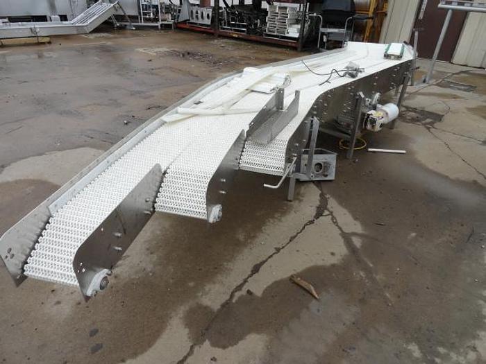 "Used Conveyor; 3 Lane S-Turn; 10""W x 18'L"
