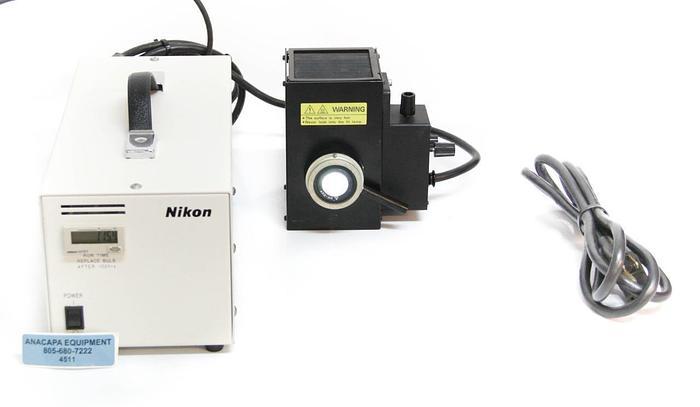 Used Nikon C-SHG Mercury Hg Microscope Illuminator Lamp, Lamphouse, Power Supply 4511