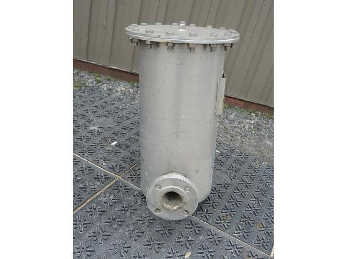"USED FILTER, CARTRIDGE TYPE, 2"" INLET/OUTLET, STAINLESS STEEL"