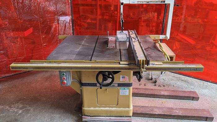 Used Powermatic 72A 12'' Table Saw Biesemeyer Blade Guard