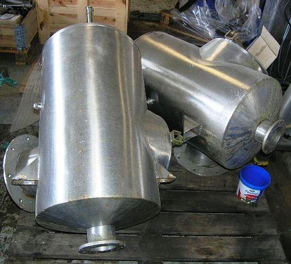 Used Horizontal powder conveyor – stainless steel – lenght 4,5 meter.