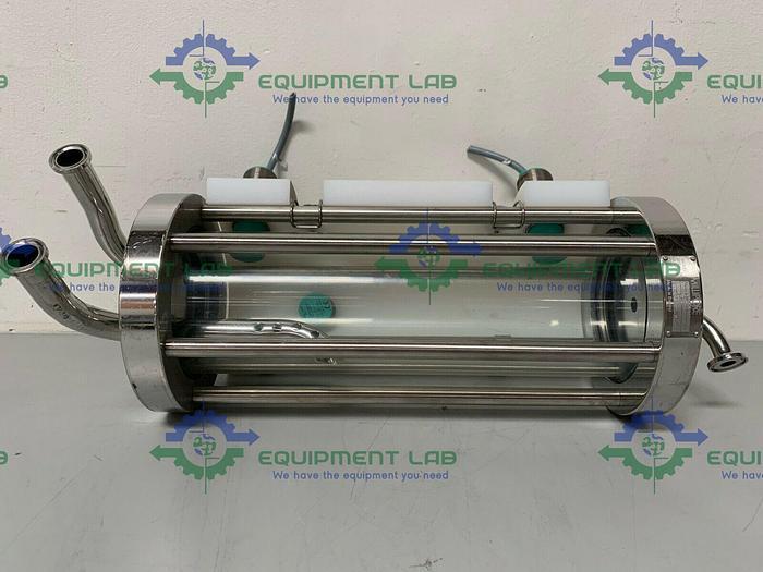 "Used Millipore K400-90BT 3-Way Chromatography Column w/ 3/4"" & 1/2"" Sanitary Fittings"