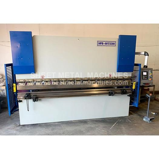 Used PRE-OWNED HOSTON 10' x 88 Ton 2 Axis CNC Press Brake with Delem 41S CNC HPB-80T/3200