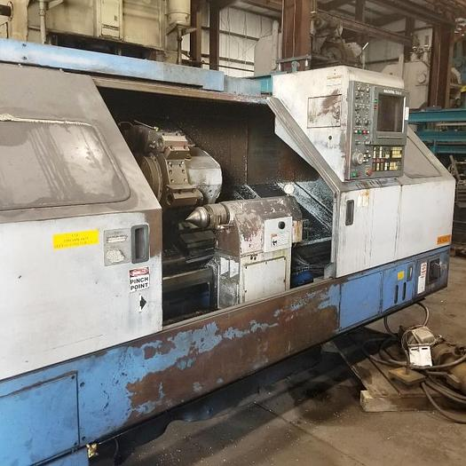 "Used Mazak CNC Lathe, Model QT 35N-U 20"" Swing, 15.7 SOC, 60"" B/C, 3000 rpm, 30 hp, Mazatrol T32-2 CNC"