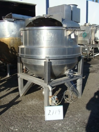 350 Gallon J.C. Pardo Jacketed Mix Kettle #2119
