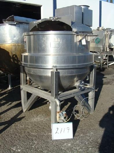 350 Gallon J.C. Pardo Jacketed Mix Kettle
