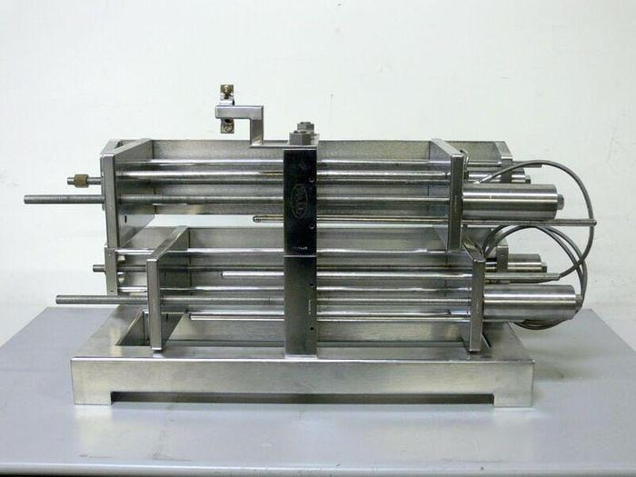 """Used Pall Filtron 316L Stainless Steel Hydraulic Cassette Filter Module 13"""" x 7.5"""""""