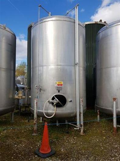 Used 14,700 Litre St Steel Pressure Rated Tank with Agitator