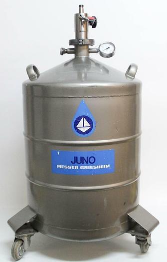 Used Juno Messer Griesheim 50 Cryogenic Dewar Tank Liquid Nitrogen (6183)