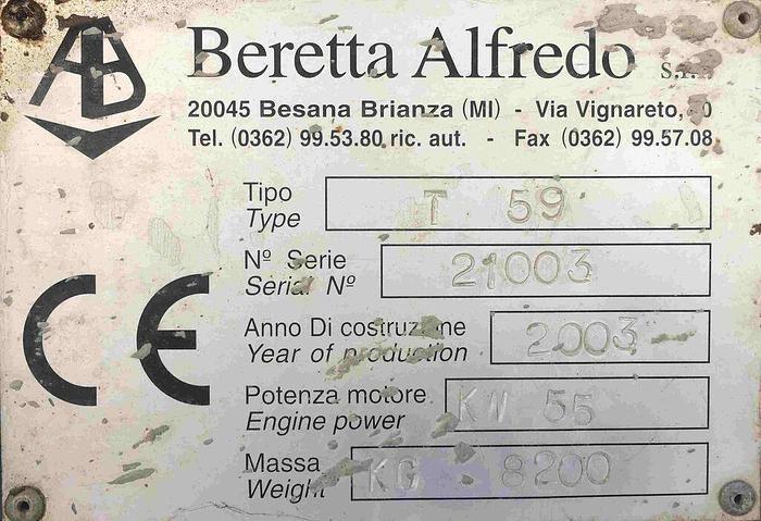 Usata Trivellatrice BERETTA T59