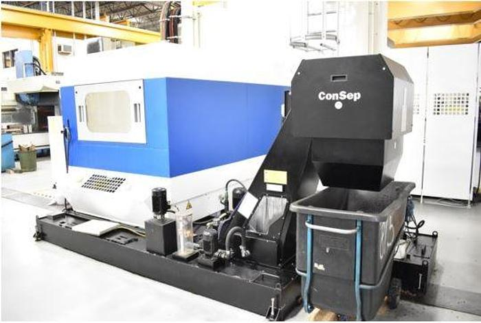 "129.9""X, 90.5""Y, 39.37""Z, HURON, 2007, KX200, 5-AXIS CNC GANTRY TYPE VERTICAL MACHINING CENTER"
