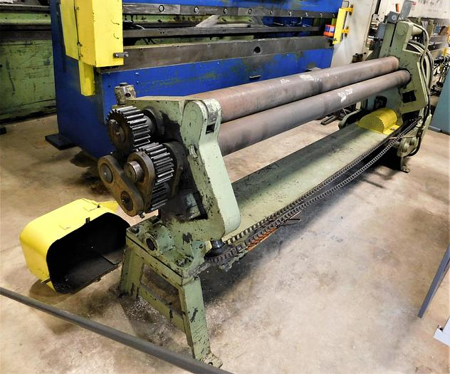Used Shop Made 8' x 14ga Initial Pinch Roll