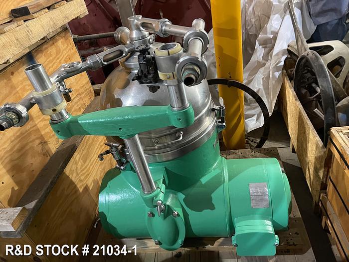 Used Centrifuge Westfalia RTA45