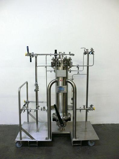 Used BHS Filtration Stainless Steel Column Skid w/ 150 PSI Column w/ Gate Valve