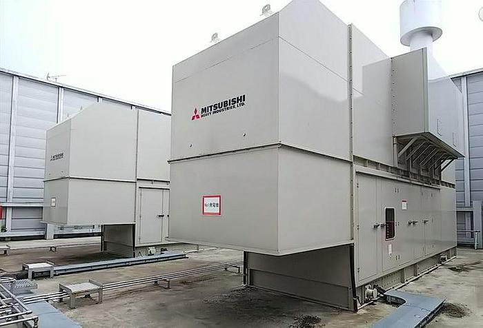 1.15 MW 2014 Used Mitsubishi Engine + Taiyo S16R-PTA-4 Diesel Generator
