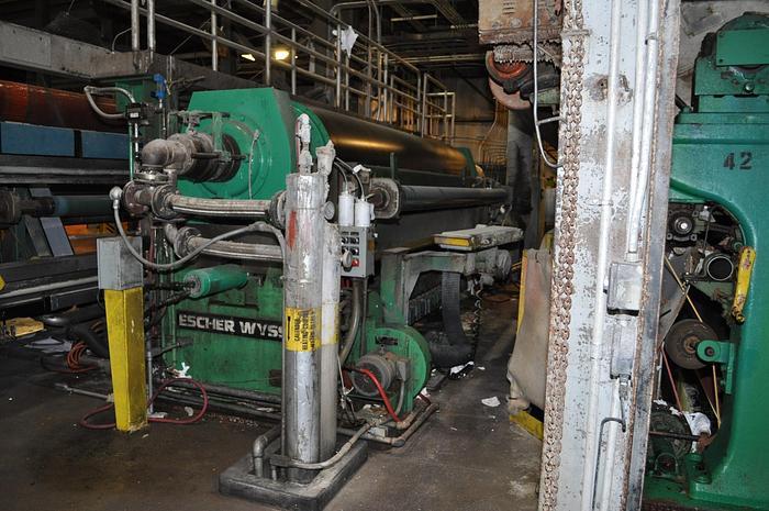 "Used 171"" (4.34M) ESCHER WYSS 2-ROLL CALENDER, NIPCO & TRI PASS ROLLS"